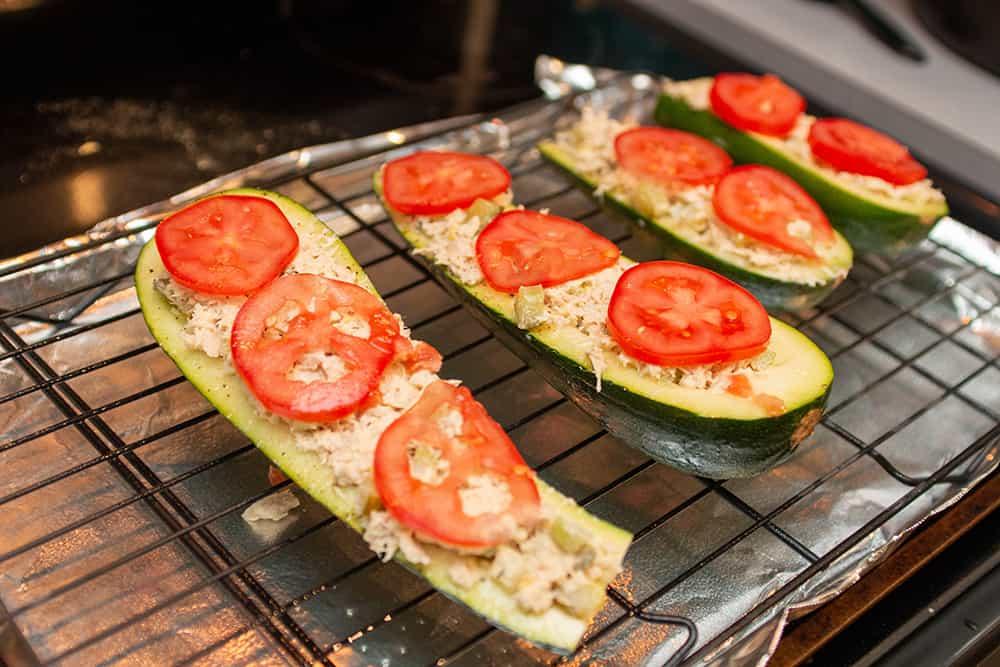 zucchini tuna boats