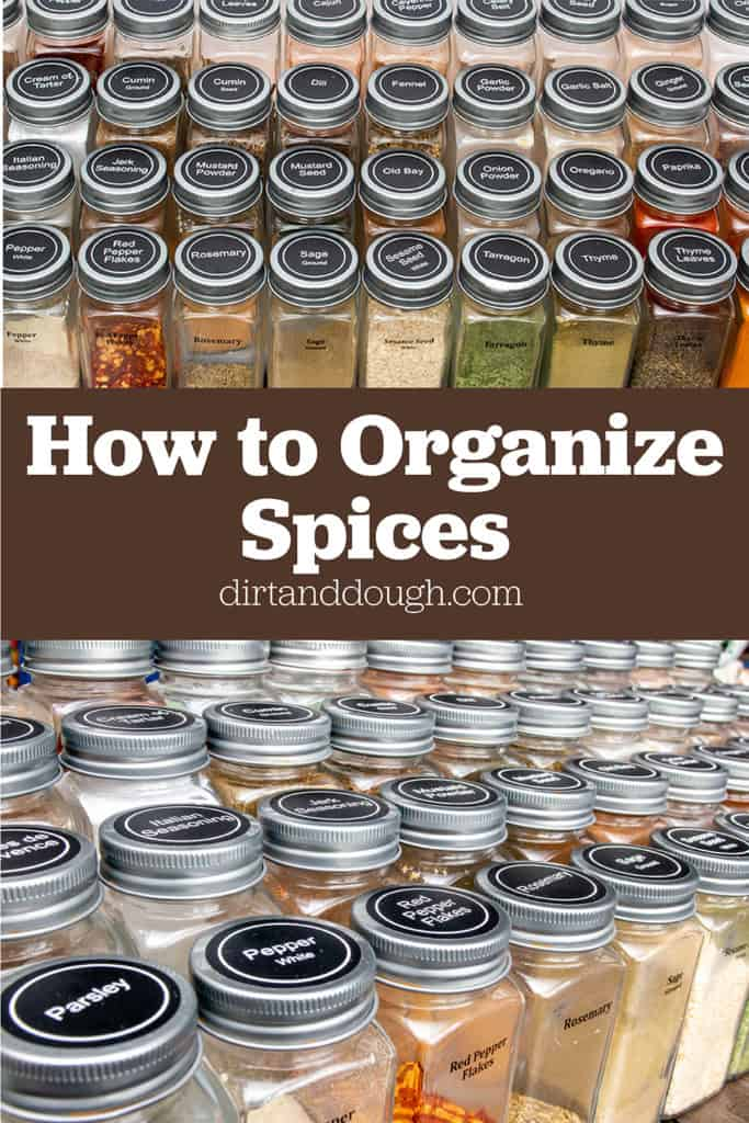 Spice organization in jars