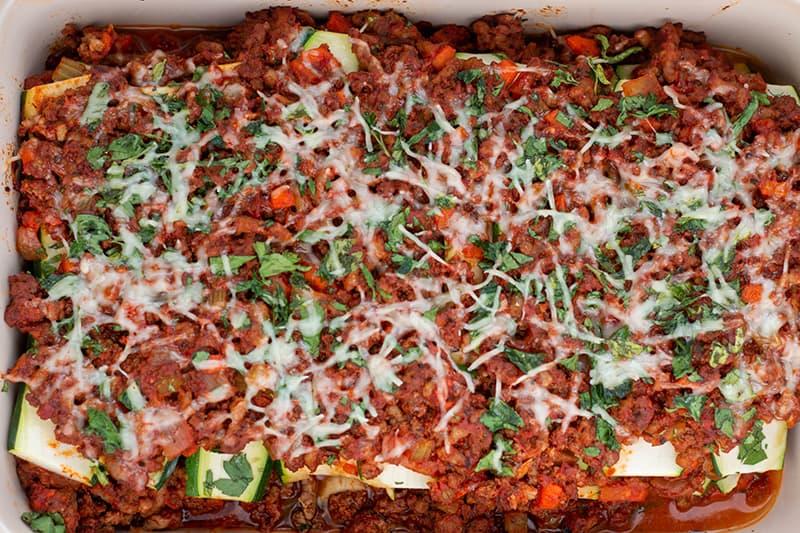 fresh baked zucchini lsagna