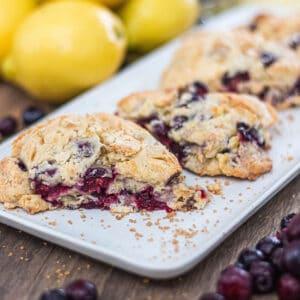 Homemade Blueberry Lemon Scones